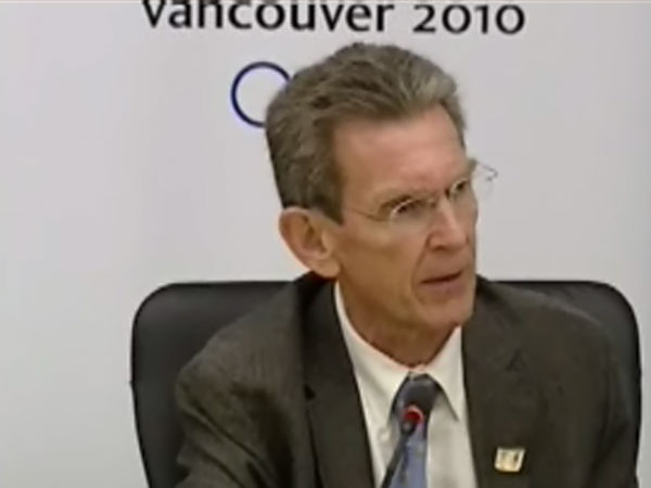 Dr. Jack Taunton says hand sanitizers are a component of VANOC's pandemic plan, complimented by a full vaccination plan. July 18th, 2009.