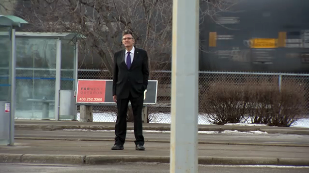 Douglas Schmidt heads into downtown Calgary almost every day looking for work.