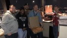 Canadian air traffic controllers have been sending pizza to their U.S. counterparts as a show of support during the U.S. partial government shutdown.