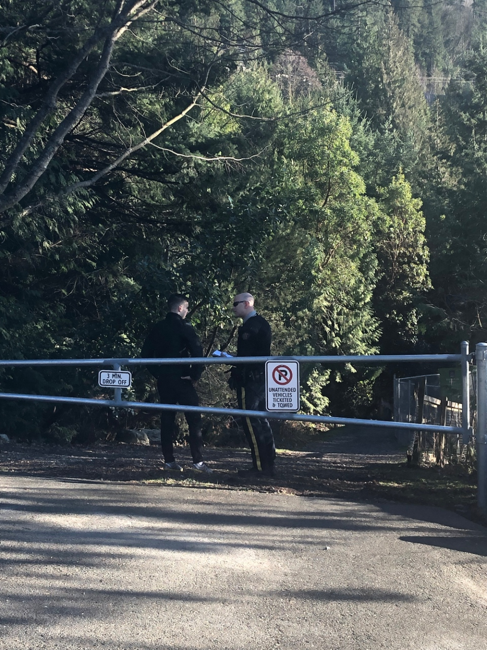 A trail where a body was recovered is seen near the Village of Lions Bay on Monday, Jan. 14, 2019. (Emad Agahi / CTV Vancouver)