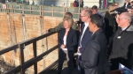 Premier Notley- Calgary Cancer Centre construction
