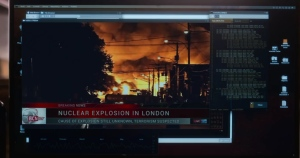 Footage in one episode of 'Travelers' is meant to portray a nuclear attack in London, but uses real footage of the train explosion.