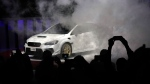 The Subaru STI S Model is unveiled, Monday, Jan. 14, 2019, at the North American International Auto Show in Detroit. (AP Photo/Carlos Osorio)