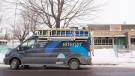 A Gas/Metro van is shown outside Ecole des Decouvreurs in the Montreal borough of Lasalle where children and staff were evacuated from the elementary school after a carbon monoxide leak on Monday, January 14, 2019; THE CANADIAN PRESS/Graham Hughes