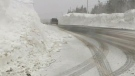 Towering snowbanks in N.S.