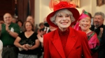 Singer and actress Carol Channing smiles as she is introduced to the Governor and Council meeting in Concord, N.H., Wednesday, June 27, 2007. (AP Photo/Jim Cole)