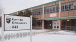 Ecole des Decouvreurs elementary school is shown in the Montreal borough of Lasalle where children and staff were evacuated following a carbon monoxide leak on Monday, January 14, 2019; THE CANADIAN PRESS/Graham Hughes