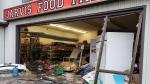 Jarvis food market break in with vehicle