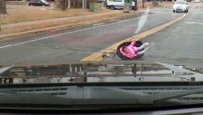 Toddler in car seat found in the street