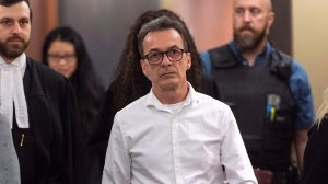 Michel Cadotte, accused of murder in the 2017 death of his ailing wife in what has been described as a mercy killing, is seen at the courthouse in Montreal on Monday, January 7, 2019. THE CANADIAN PRESS/Paul Chiasson