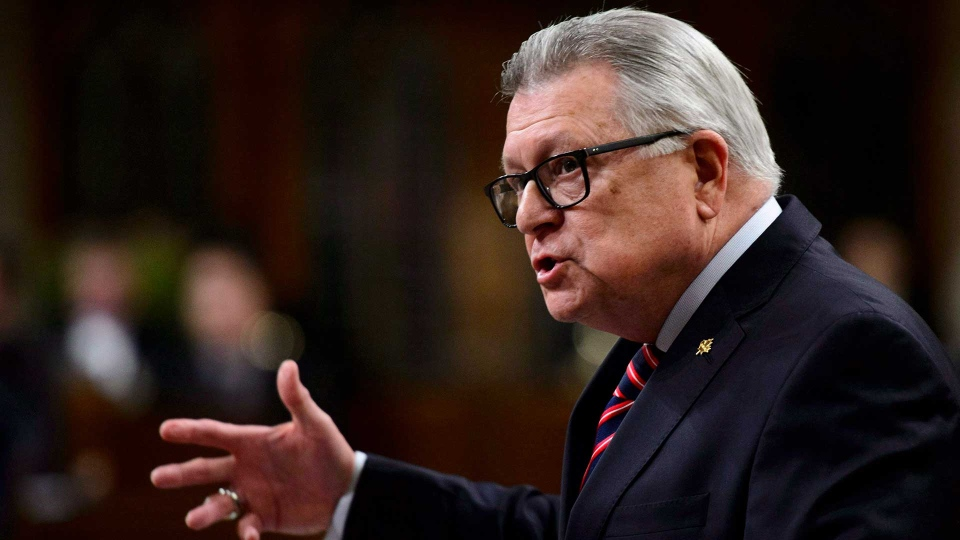 Public Safety and Emergency Preparedness Minister Ralph Goodale stands during question period in the House of Commons on Parliament Hill in Ottawa on Monday, Dec. 10, 2018. THE CANADIAN PRESS/Sean Kilpatrick
