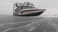 York Regional Police ice boat