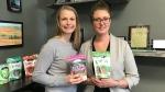 Natasha Vandenhurk, left, and Elysia Vandenhurk of Three Farmers. (Saron Fanel/CTV Saskatoon)