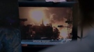 Images of the Lac-Megantic rail explosion are shown in the film 'Birdbox'