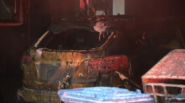 Bonavista Downs garage fire