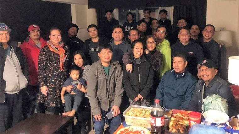 The Embassy of the Philippines in Ottawa says 17 Filipino crew members that were evacuated from a Halifax-bound container ship have arrived in Halifax, where they were provided with food and other necessities. (Embassy of the Philippines)