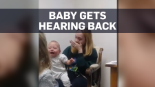 Caught on cam: Baby gets hearing back