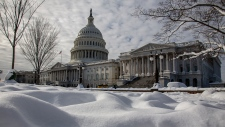 The Capitol is seen on the 24th day of a partial government shutdown after a weekend snowstorm, Monday, Jan. 14, 2019. (AP / J. Scott Applewhite)