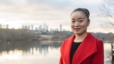 Karen Wang is seen in a photo posted on her website.