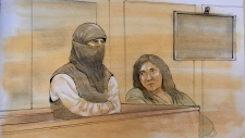 Rehab Dughmosh appears in court on Jan. 16, 2019. (John Mantha)
