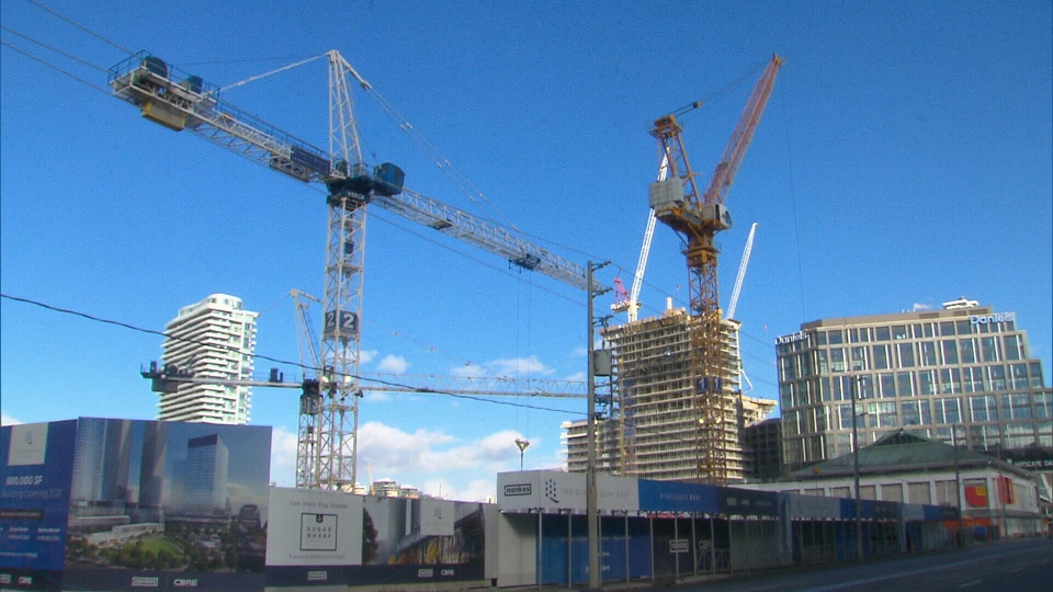 New data revealed that Toronto is considered one of North America's crane capitals.