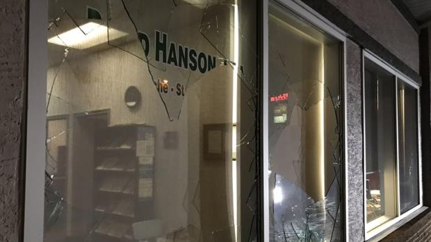 UCP St. Paul smashed windows