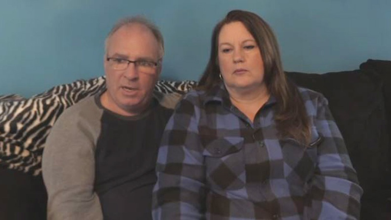 Tom King and his wife Darcie are sharing their story after falling through the ice while snowmobiling in Miramichi, N.B.