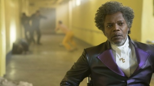 Samuel L. Jackson in a scene from M. Night Shyamalan's 'Glass.' (Jessica Kourkounis / Universal Pictures via AP)