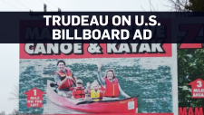 The Trudeau family is on a billboard in Kentucky