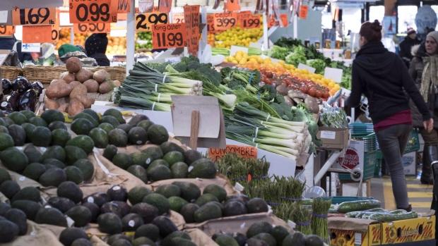 Various vegetables at Jean Talon market