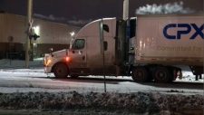 One man is dead after a crash involving a semi on the Yellowhead Trail.