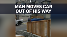 Caught on cam: Man moves car blocking his driveway