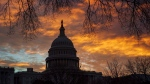 The Capitol is seen on the first morning of a partial government shutdown, as Democratic and Republican lawmakers are at a standoff with President Donald Trump on spending for his border wall, in Washington, Dec. 22, 2018. THE CANADIAN PRESS/AP/J. Scott Applewhite