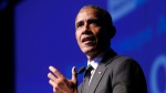 Former President Barack Obama accepts the Robert F. Kennedy Human Rights Ripple of Hope Award at a ceremony, Wednesday, Dec. 12, 2018, in New York. Former United States president Barack Obama is coming to Vancouver. THE CANADIAN PRESS/AP, Jason DeCrow
