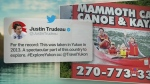 Trending: Trudeaus on a billboard