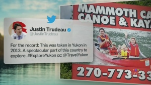 Trending: Trudeaus on a billboard