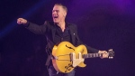 Bryan Adams performs during the Invictus Games closing ceremony in Toronto on September 30, 2017. (THE CANADIAN PRESS/Chris Young)