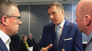 People's Party of Canada Leader Maxime Bernier speaks in Saint John, N.B., on Thursday, January 17, 2019. Maxime Bernier looked to garner support for his fledgling People's Party of Canada Thursday as he spoke to a small business audience in New Brunswick -- his first East Coast foray since starting his new party four months ago. THE CANADIAN PRESS/Kevin Bissett
