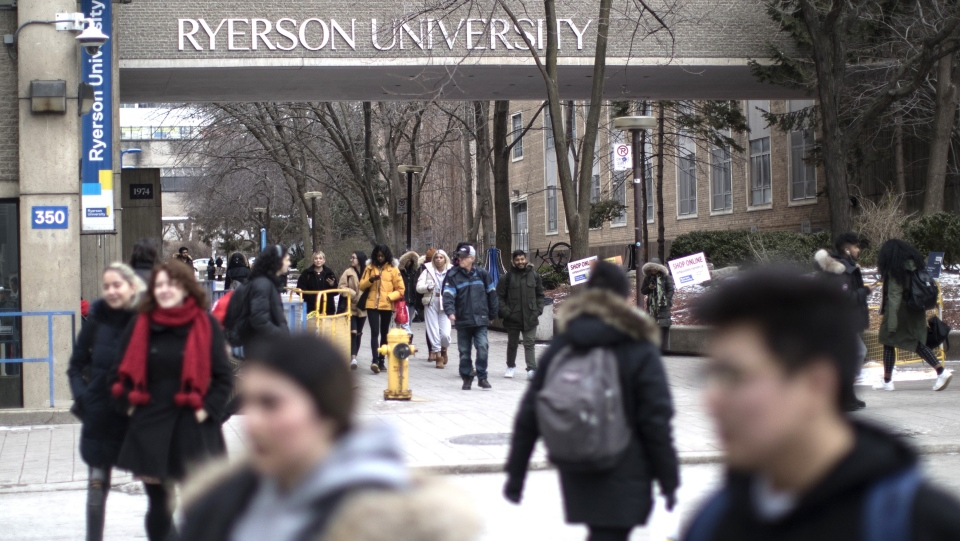 A general view of the Ryerson University campus in Toronto, is seen on Thursday, Jan. 17, 2019. (THE CANADIAN PRESS/Chris Young)
