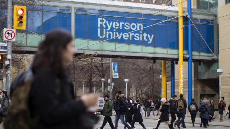 A general view of the Ryerson University campus in Toronto, is seen on Thursday, January 17, 2019. (Chris Young/The Canadian Press)