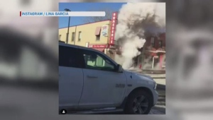 An explosion in Rosemont shut down the metro's blue line. Video: Lina Garcia.