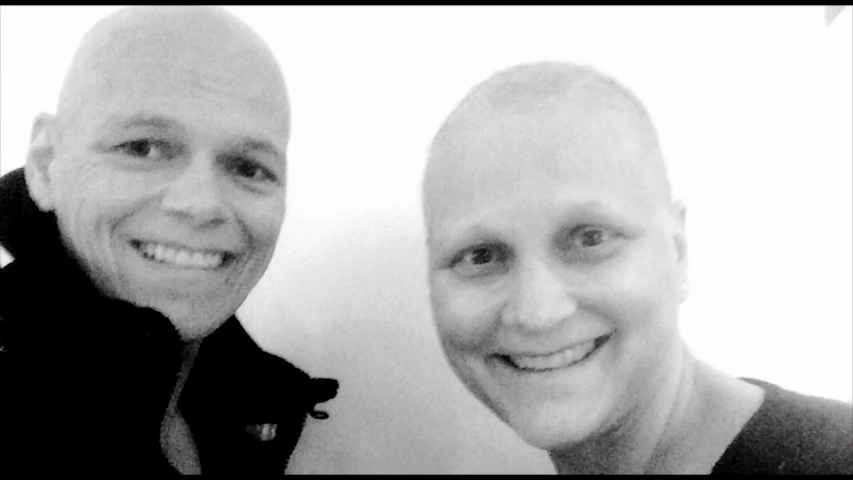Sisters Rebecca and MaryEllen both with cancer.