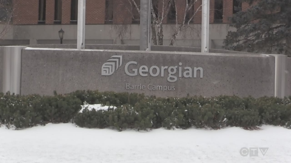Georgian College in Barrie, Ont. on Thursday, Jan. 17, 2019 (CTV News/Mike Walker)