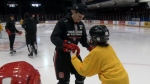 67's help grow blind hockey program