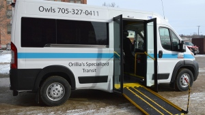 The Orillia Wheelchair Limousine bus service rolled out on Thursday, Jan. 17, 2019 (City of Orillia)