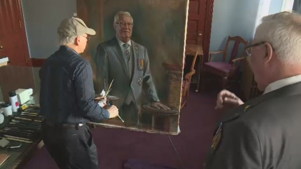 Painter Cyril Leeper behind many official portraits