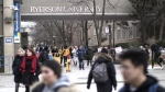A general view of the Ryerson University campus in Toronto, is seen on Thursday, January 17, 2019. The Ontario Government has announced it's changes to student tuition programmes. (THE CANADIAN PRESS/Chris Young)