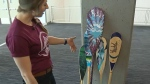 Haley Daniels - painted paddles auction