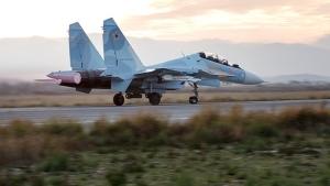 A Russian Su-34 bomber. (Russian Defence Ministry Press Service via AP)