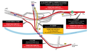 Turcot closures for weekend of Jan. 18, 2019